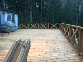 All Cedar Deck view from top of the stairs